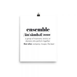 Ensemble Definition Poster