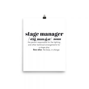 Stage Manager Definition Poster