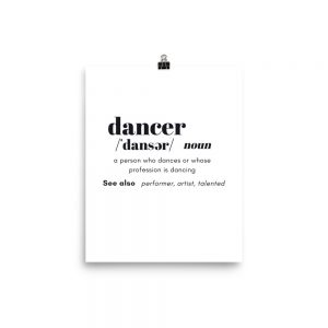 Dancer Definition Poster